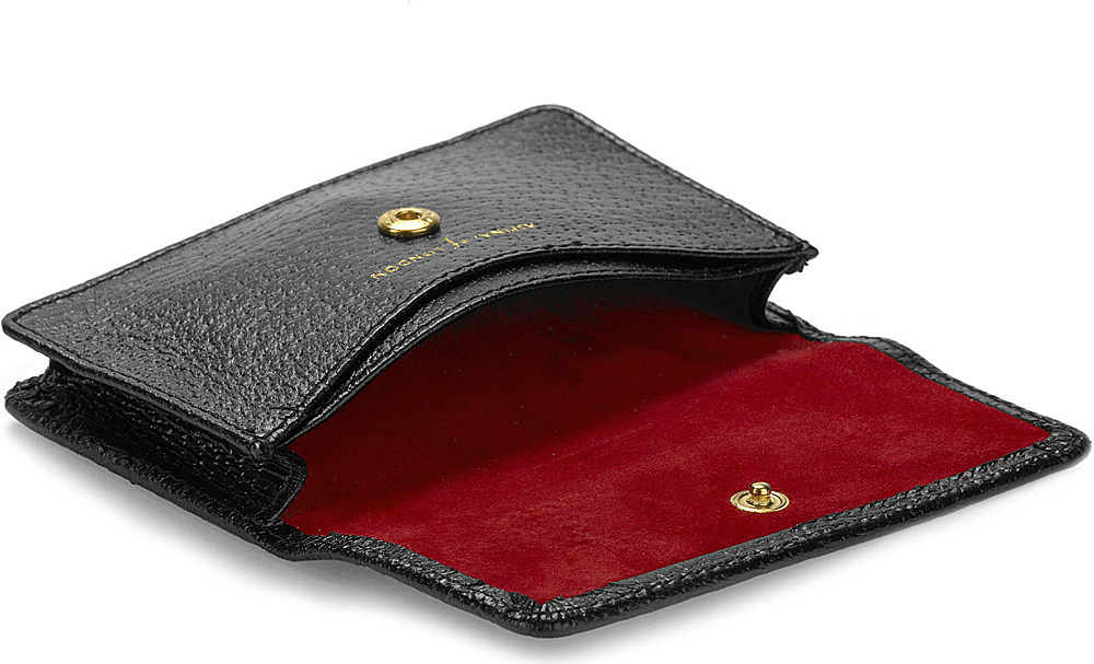 Aspinal Leather Business and Credit Card Case in Black for