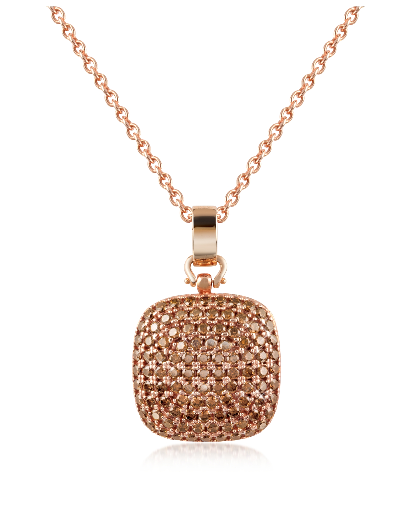 azhar cubic zirconia and sterling silver square pendant