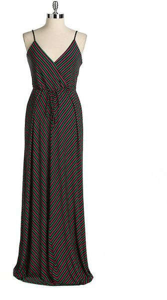 Calvin Klein Sleeveless Striped Maxi Dress - Lyst