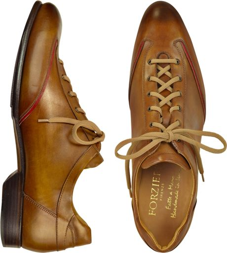 forzieri s brown handmade italian leather lace up