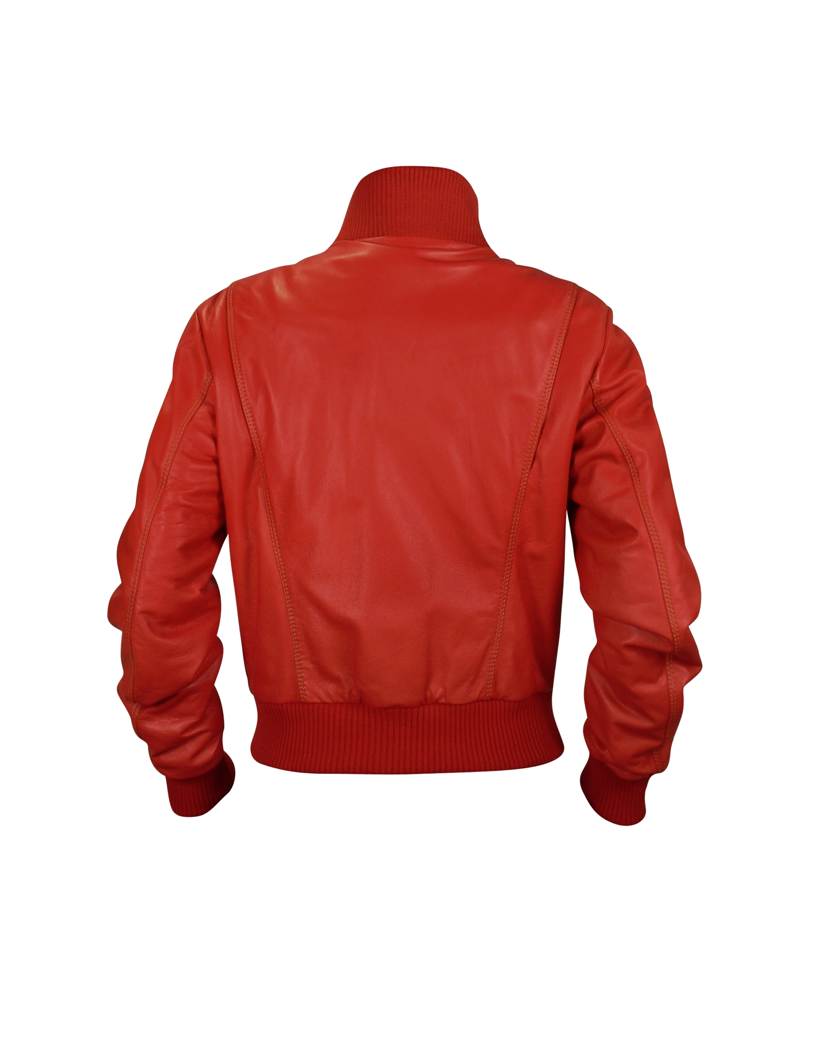 Forzieri Women's Red Leather Bomber Jacket in Red | Lyst