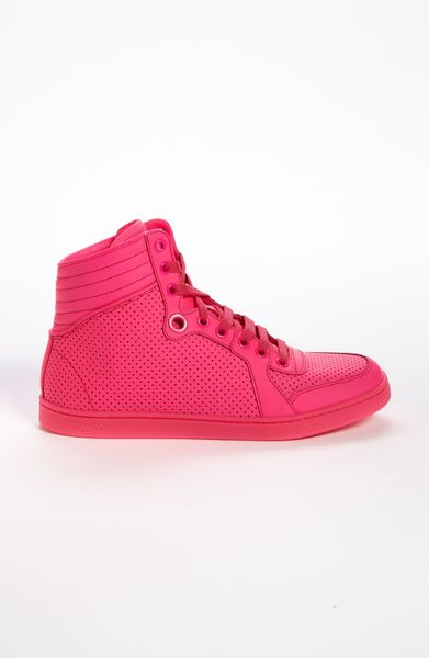 Gucci Coda High Top Sneaker in Pink   Lyst