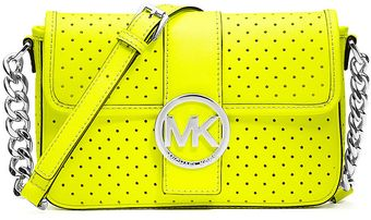 Michael by Michael Kors Fulton Perforated Leather Small Messenger Bag - Lyst