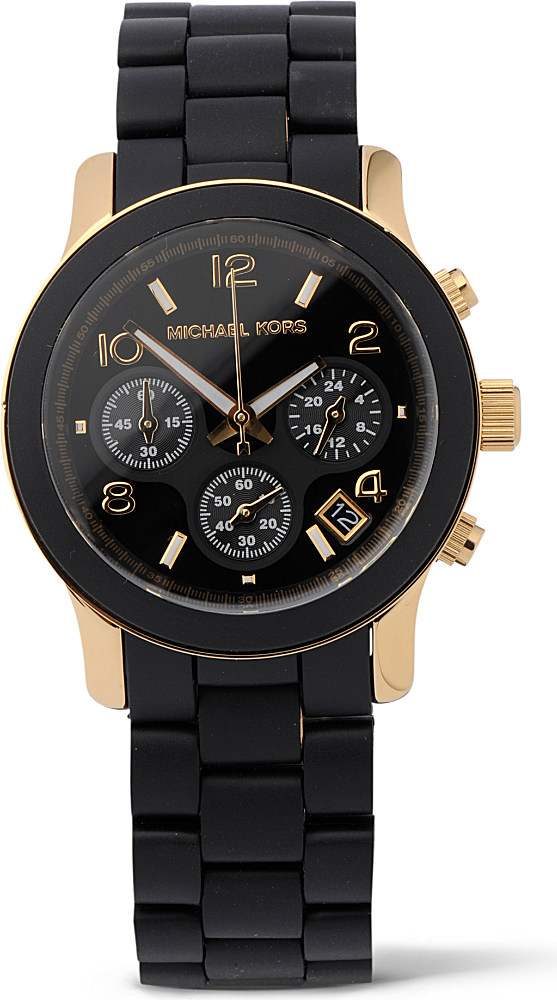 michael kors runway gold plated for in black