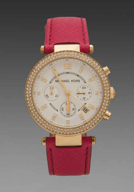 Lyst Michael Kors Parker Watch In Pink In Metallic