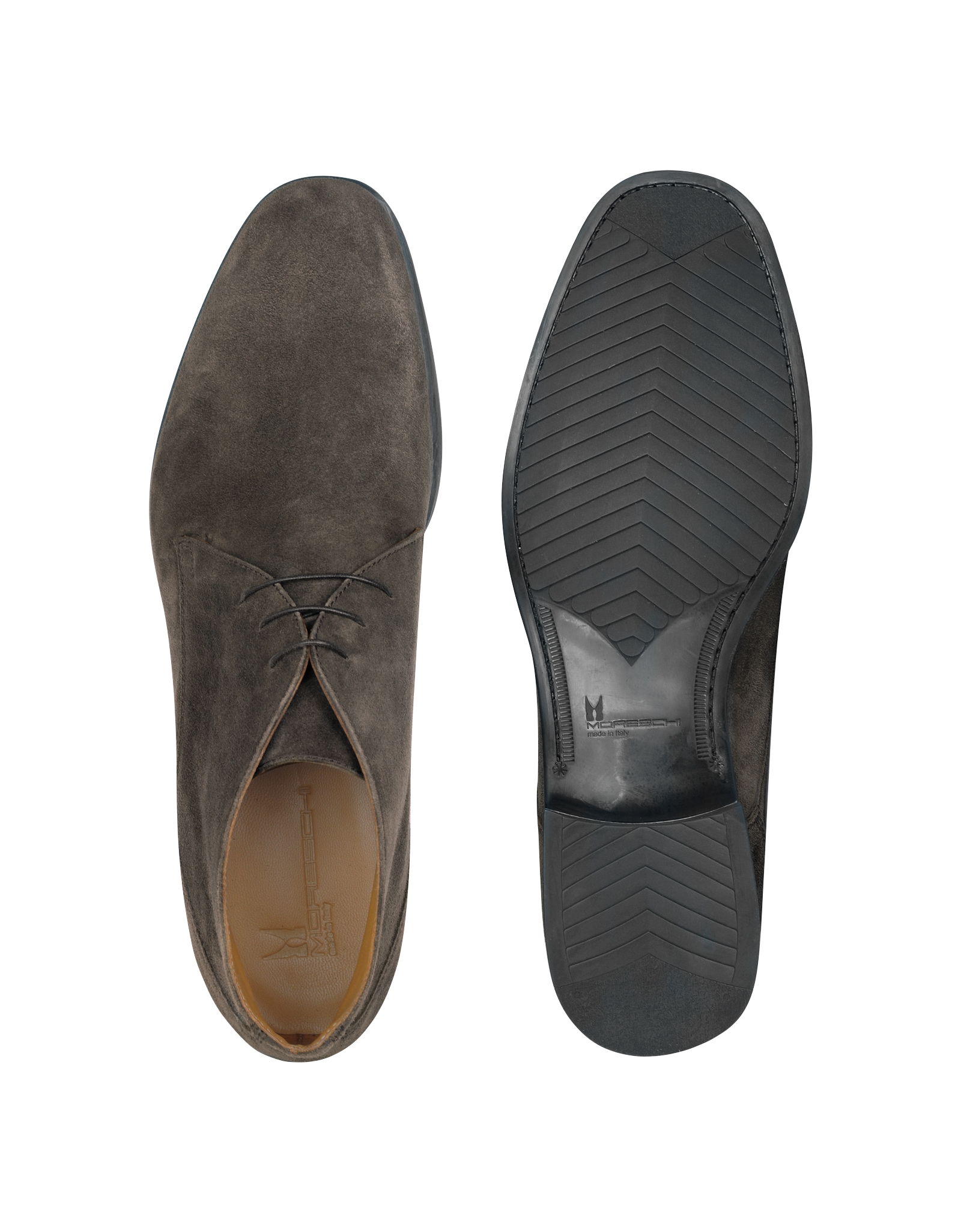 Moreschi Stiria Gray Suede Ankle Boots In Gray For Men