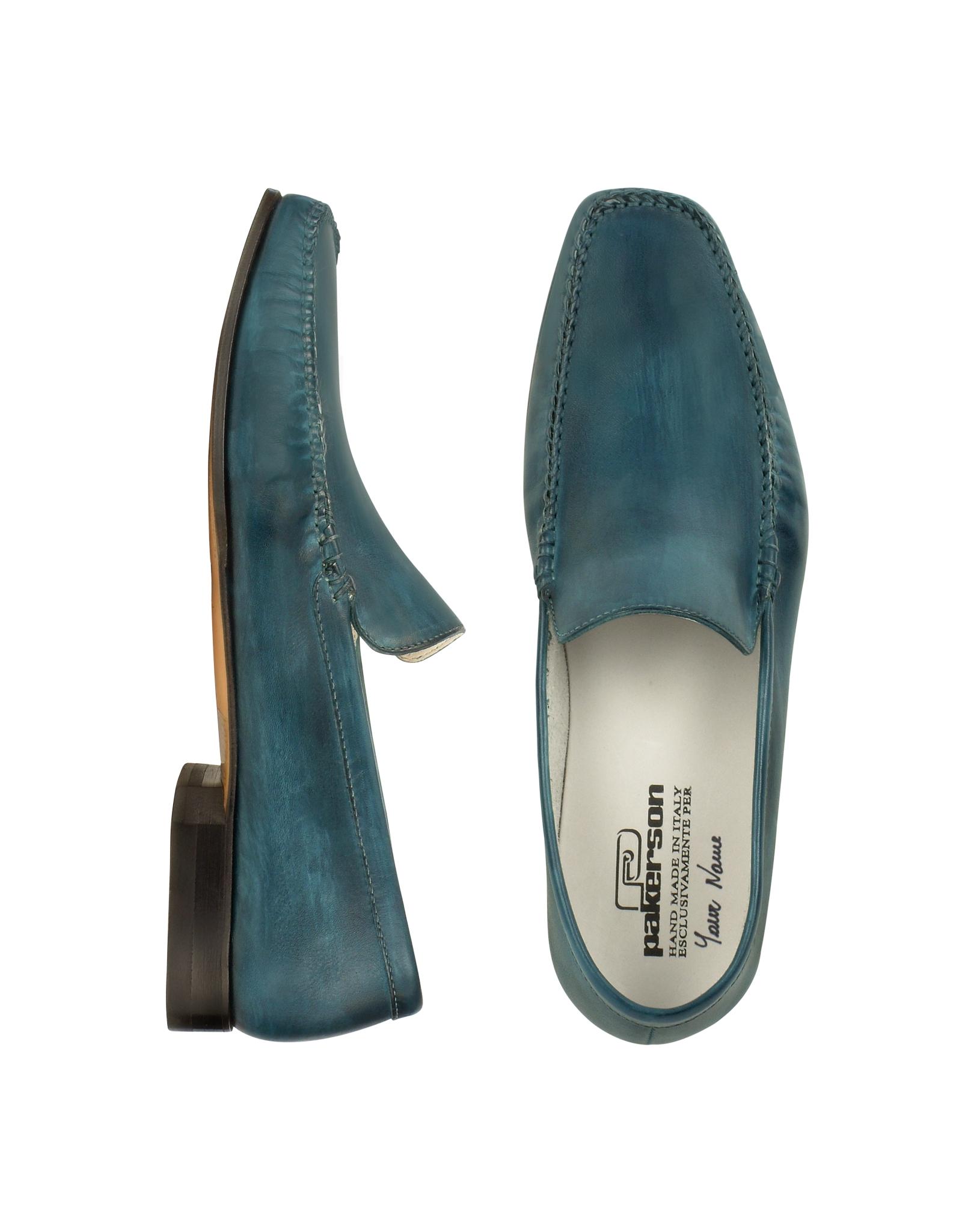 Lyst - Pakerson Petrol Blue Italian Handmade Leather ...