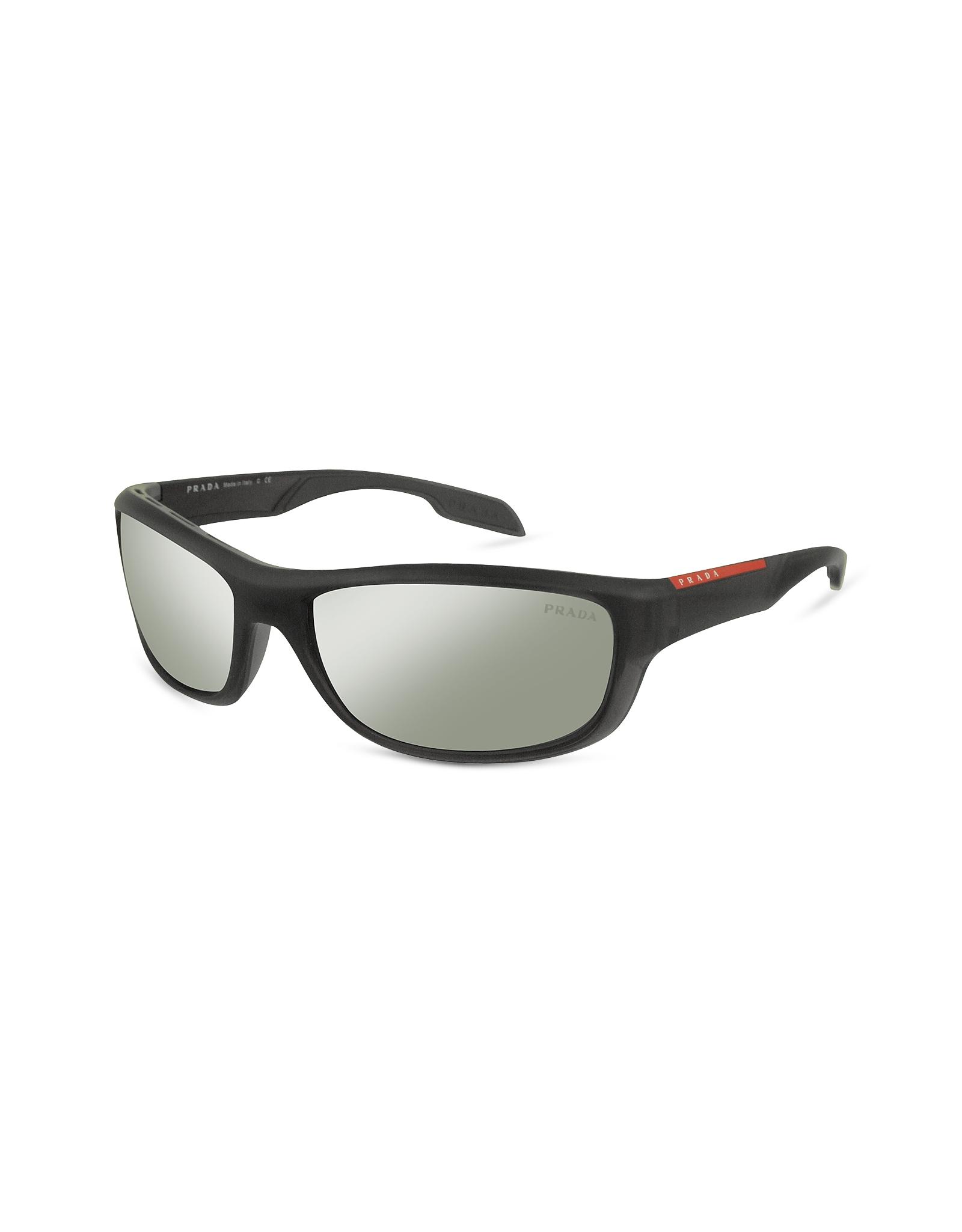 6e1a7b7b8c Lyst - Prada Plastic Rectangle Frame Sunglasses in Black for Men