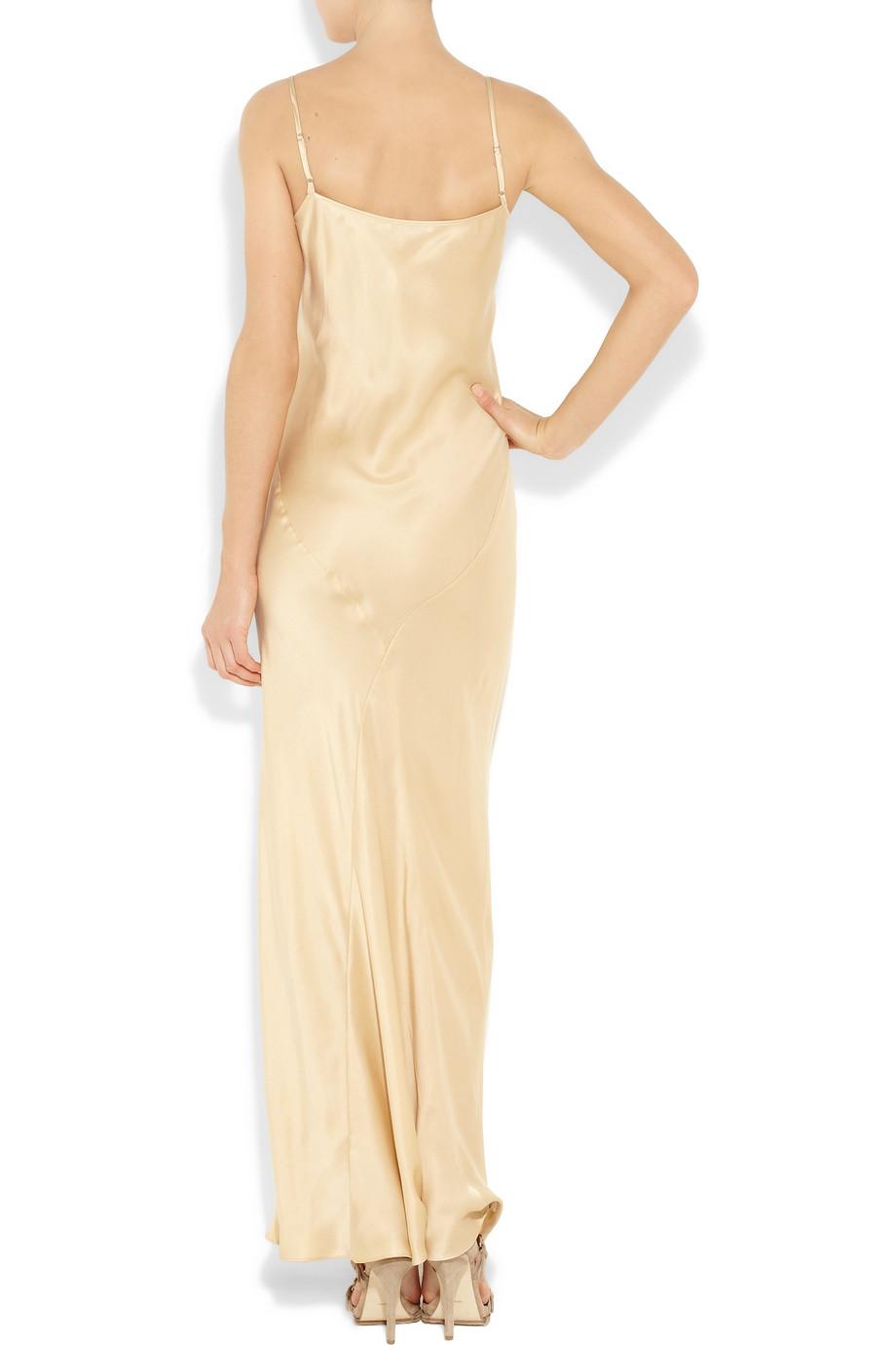 Silk charmeuse maxi dress