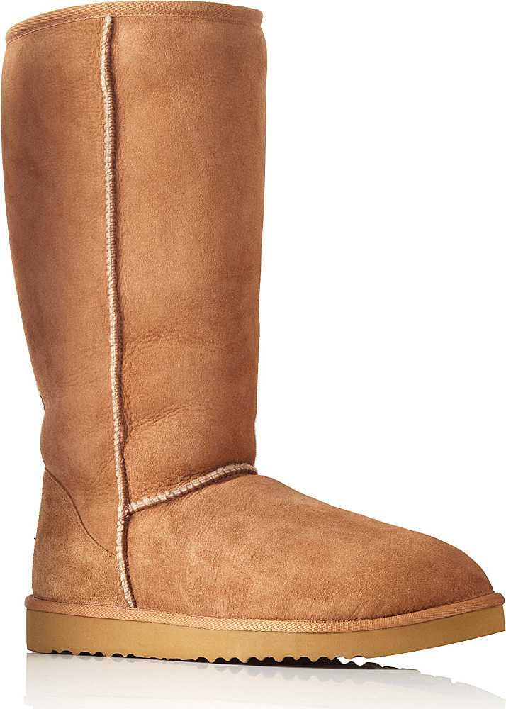 Ugg Classic Tall Sheepskin Boots In Brown Lyst