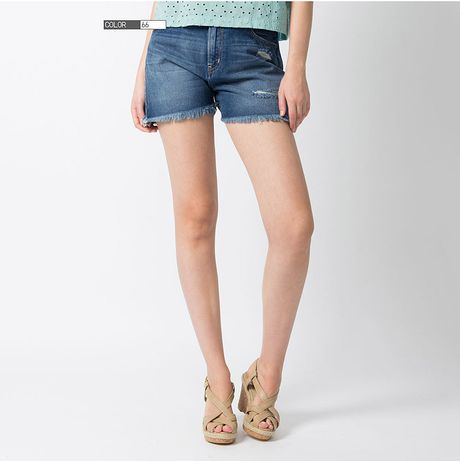 denim micro shorts - photo #14