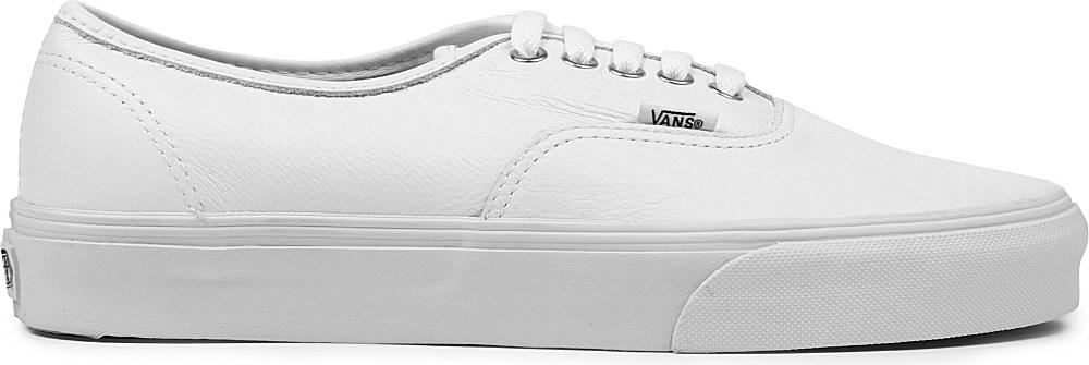 vans authentic leather white mono