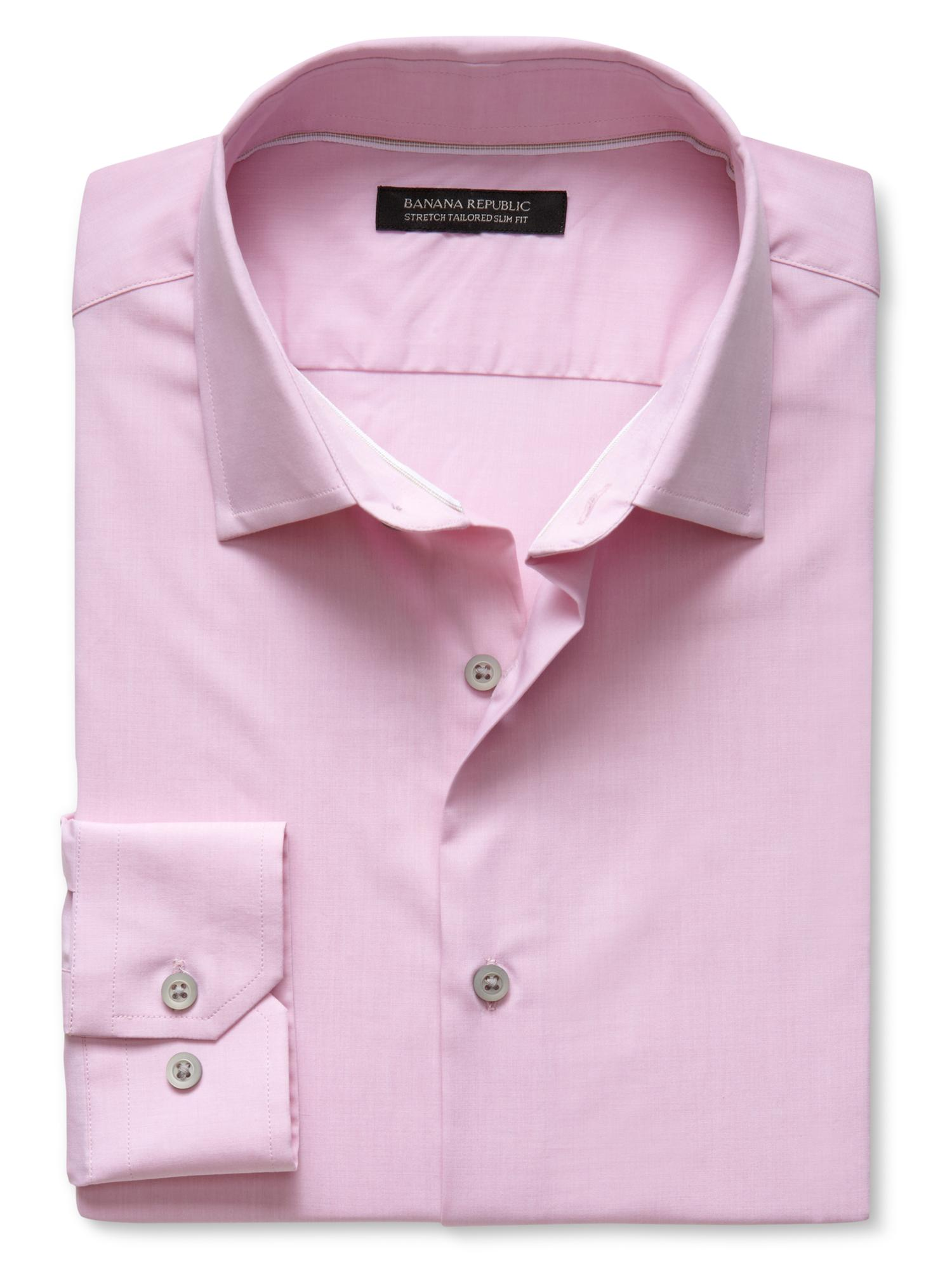 banana republic tailored slim fit stretch dress shirt in