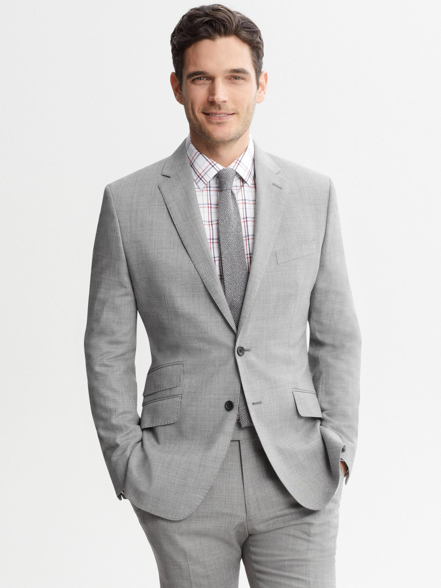 River Island Silver Gray Suit