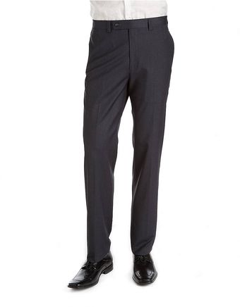 Calvin Klein Flat Front Dress Pants - Lyst