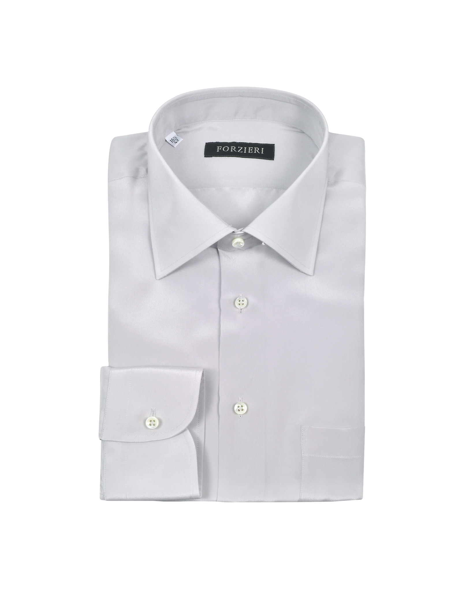Lyst - Forzieri Silver Gray Pure Silk Dress Shirt in Gray ...