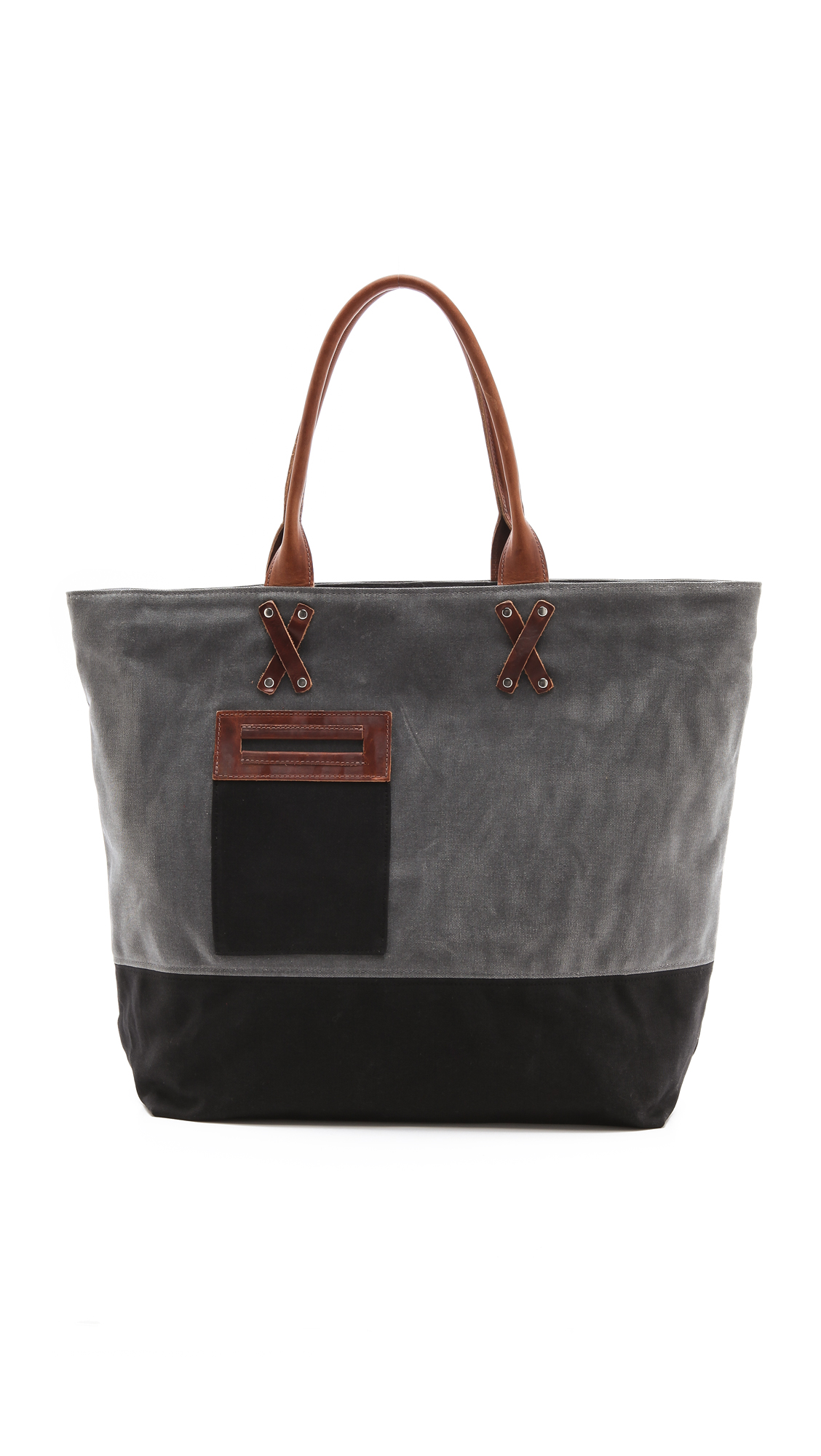 Graf Amp Lantz Parker Boat Bag In Waxed Canvas In Gray Lyst