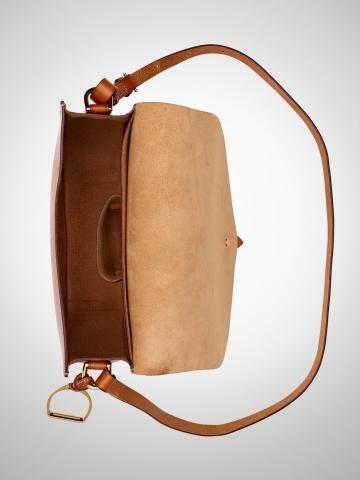 Ralph Lauren Equestrian Vachetta Saddle Bag in Orange - Lyst dcc1954c1e00c