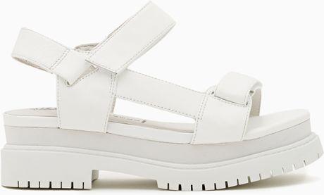 Nasty Gal Mayview Platform Sandal In White Lyst