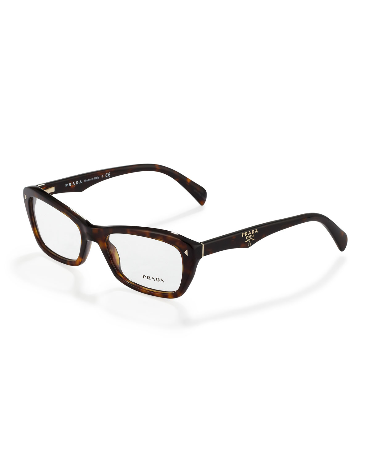 eb930e765c5 Lyst - Prada Catty Rectangle Fashion Glasses in Brown