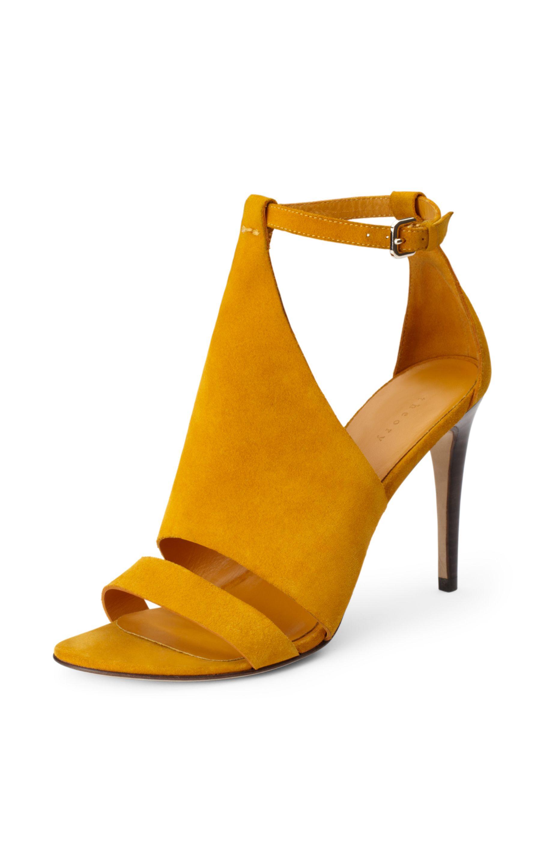 Lyst Theory Toscana Minorca Heel In Yellow