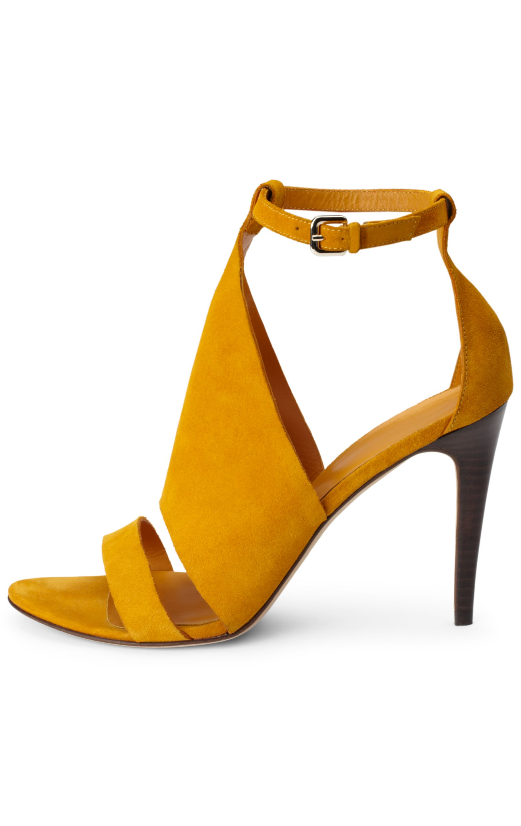 1d1a8fe3c39 CR-01 Mustard Yellow Velvet Pointed Pumps
