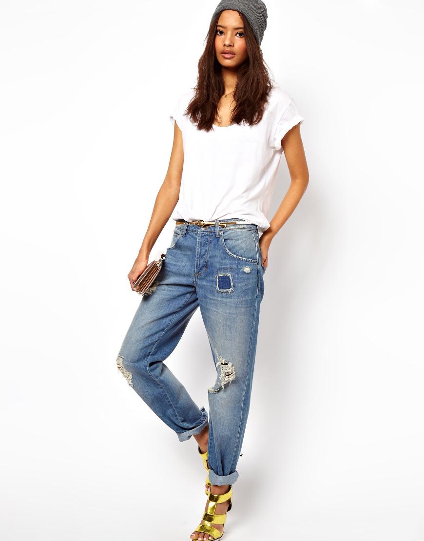 Как сделать джинсы бойфренды