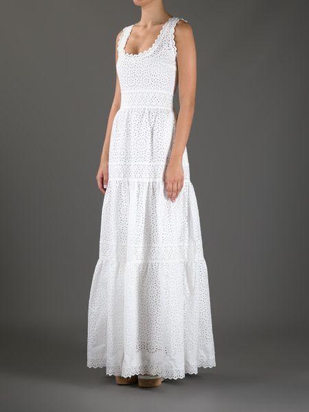 Innovative  Womens White Cotton Eyelet Lace Sleeveless Dress  Clothing Style