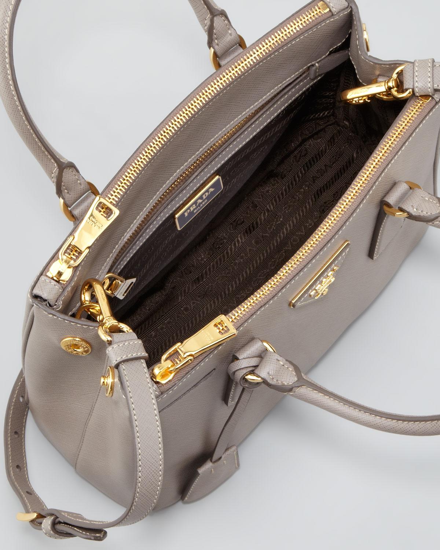 c11b11f15d6d ... low price lyst prada mini saffiano lux tote bag in pink 04921 be8f3
