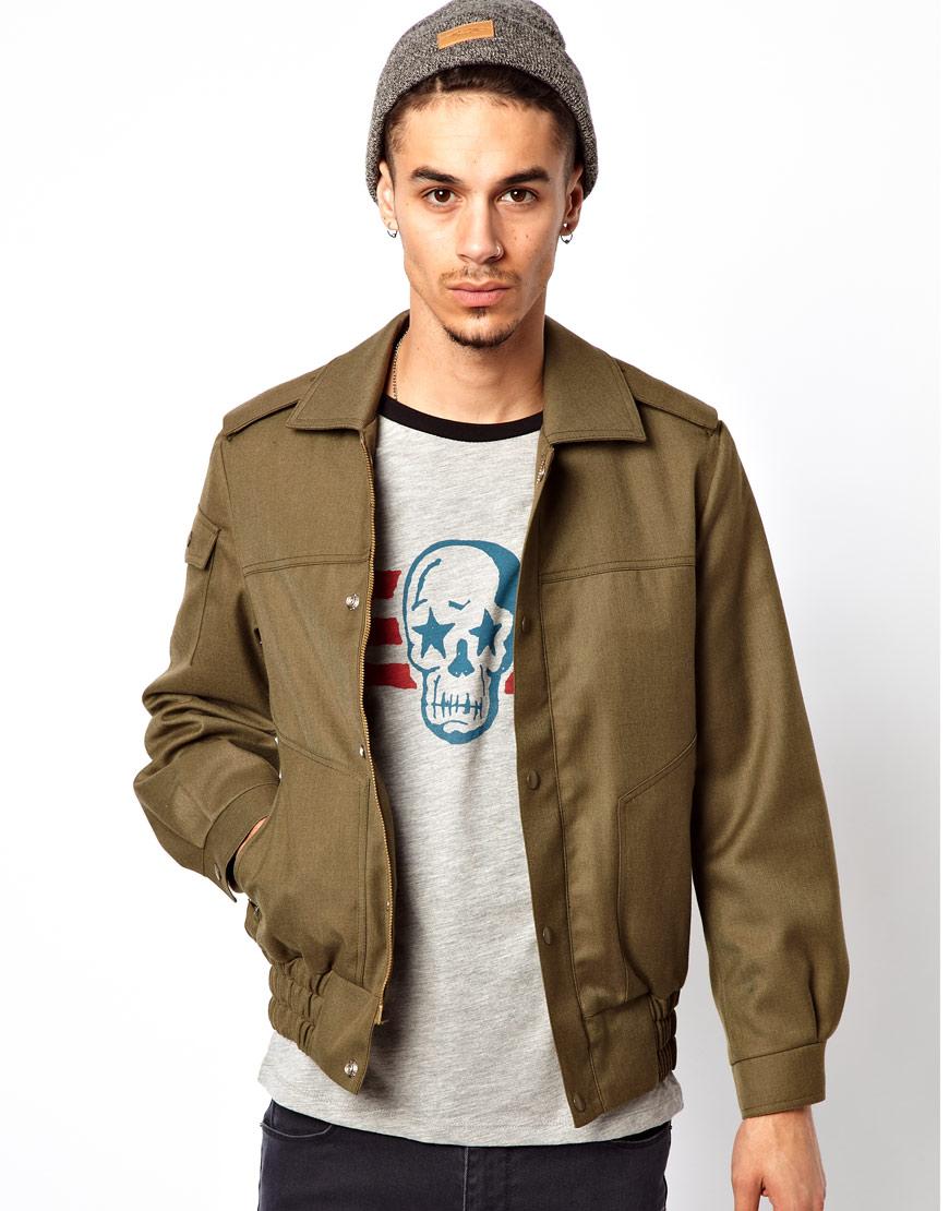Asos Reclaimed Vintage Bomber Jacket in Green for Men | Lyst