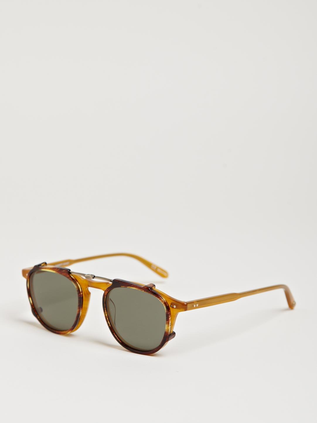 Polar 1 Sunglasses  garrett leight hampton erscotch brown polar sunglasses in