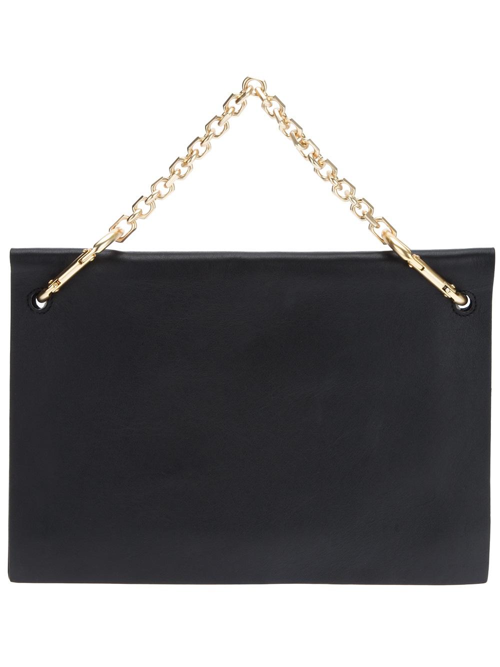 f507243bac Calvin Klein Envelope Clutch in Black - Lyst