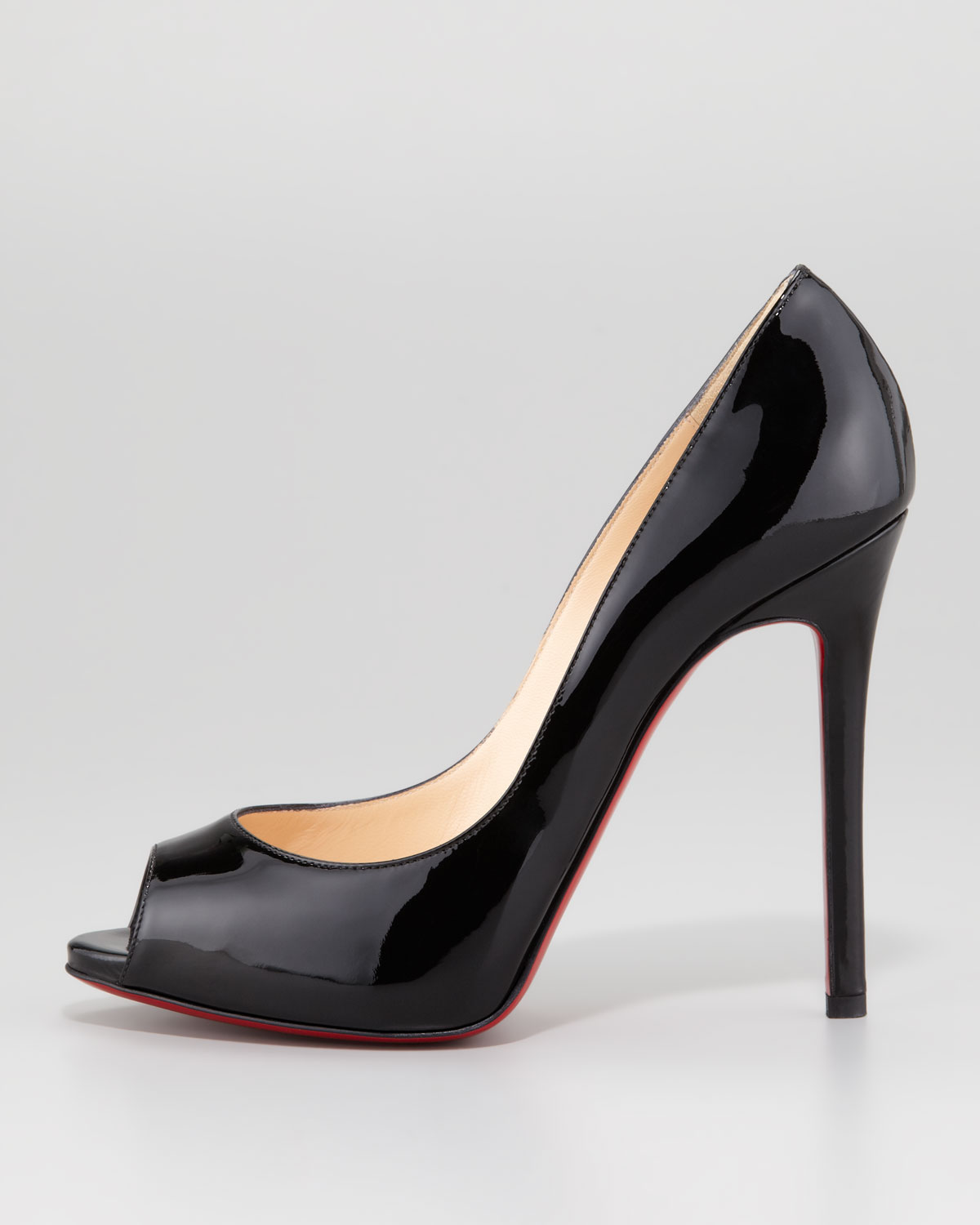 Lyst Christian Louboutin Flo Patent Leather Red Sole