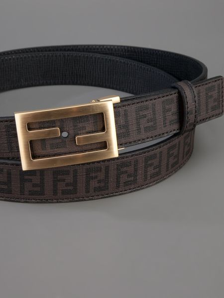 fendi monogram belt in brown for lyst