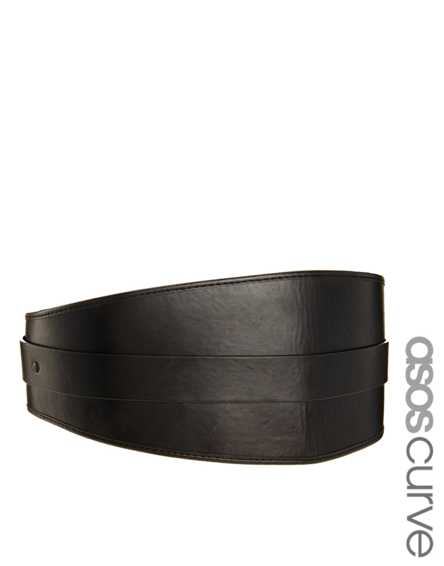 Lyst - Asos Wide Waist Cincher Belt in Black 2141f23d639