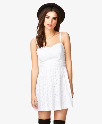 White eyelet dress forever 21.