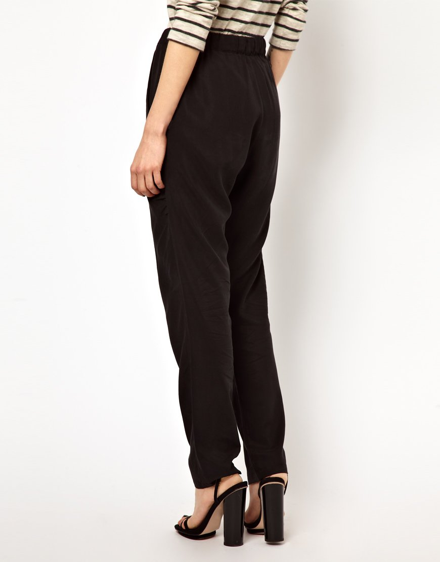 Lyst Just Female Relaxed Fit Trousers In Black