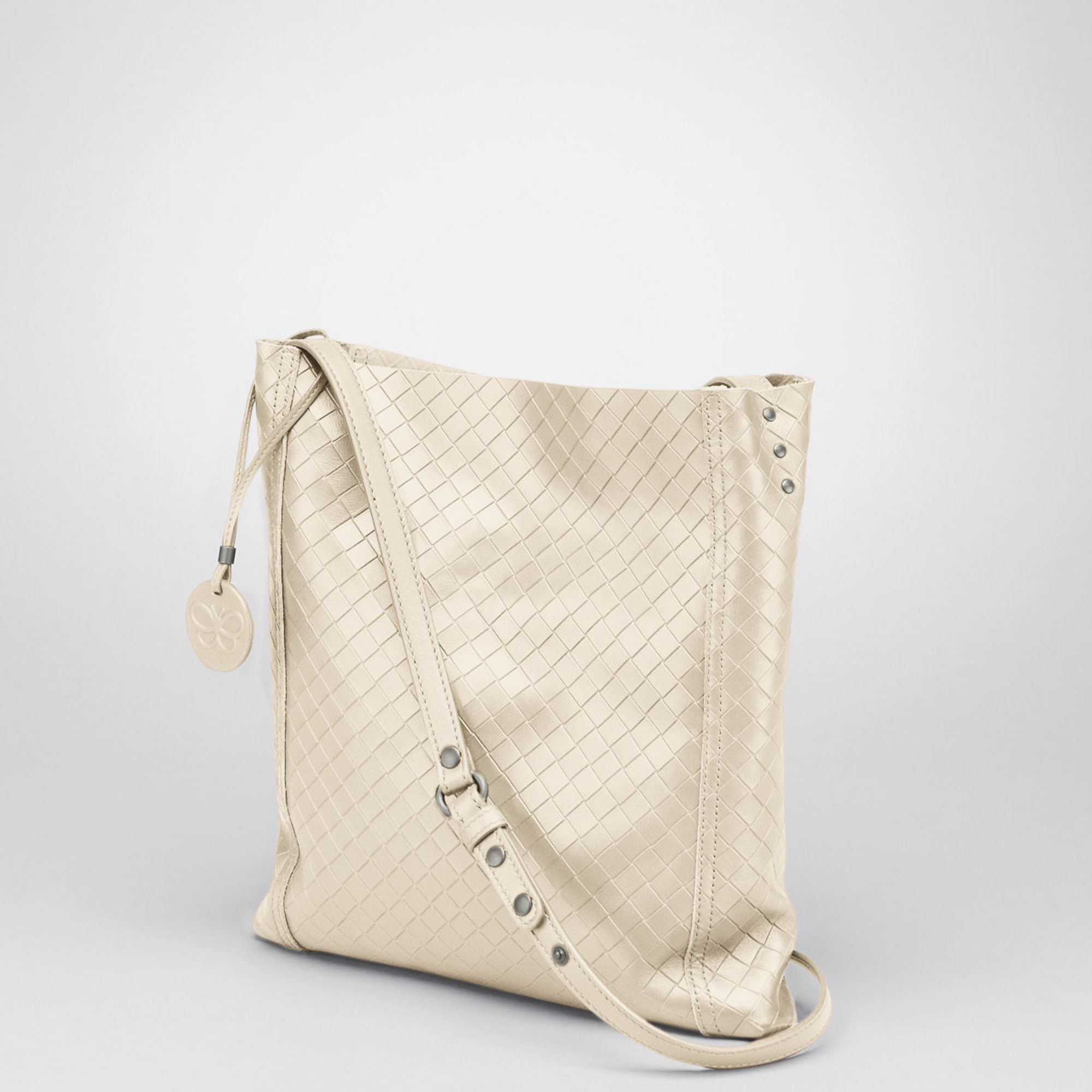 c243748d573a Lyst - Bottega Veneta Nero Intrecciomirage Cross Body Bag in Natural