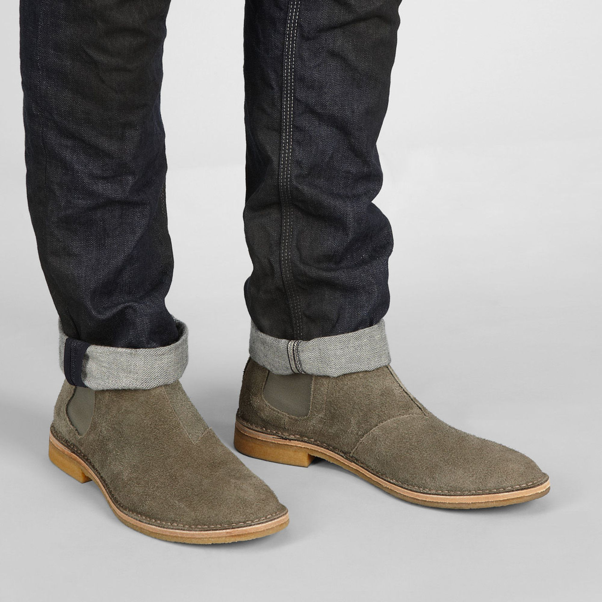 Bottega Veneta Aussie Suede Chelsea Boots RVwPDQc