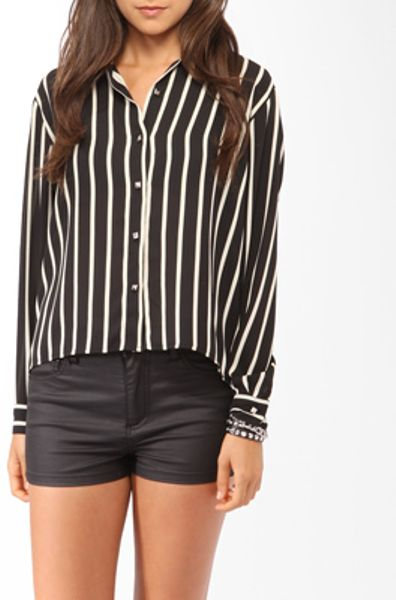 High Low Shirts Forever 21 Forever 21 High-low Vertical