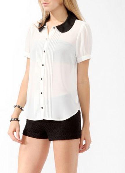 Peter Pan Collar Shirt Womens
