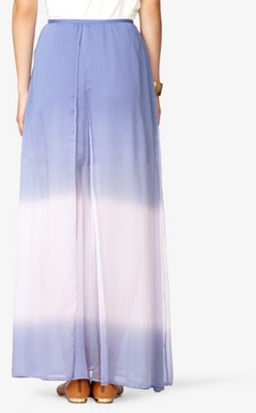 forever 21 ombr 233 layered maxi skirt in purple periwinkle