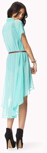 High Low Shirts Forever 21 Forever 21 Belted High-low