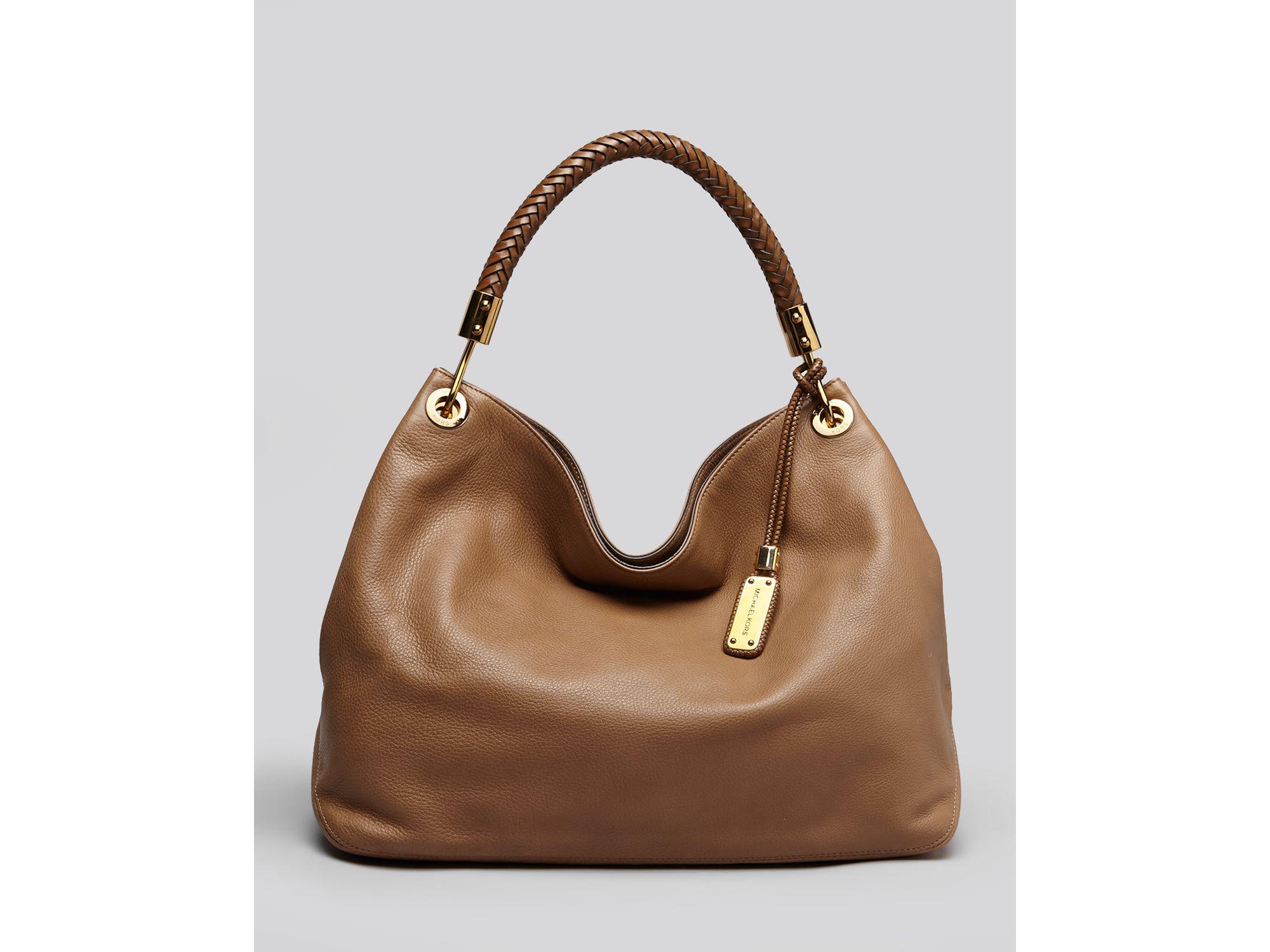79bd6f939992 Lyst - Michael Kors Large Shoulder Bag Skorpios in Brown