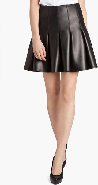 Black leather gloves asos - Msgm Short Pleated Skirt In Black Lyst