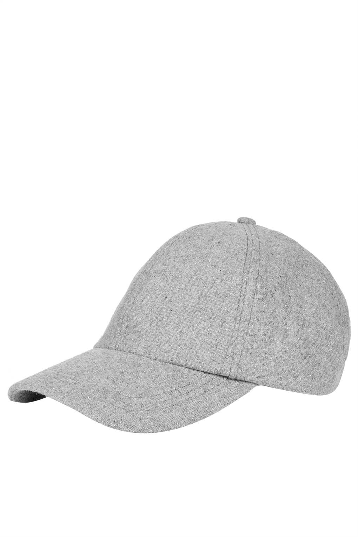 TOPSHOP Marl Baseball Cap in Gray - Lyst 821cca8a897
