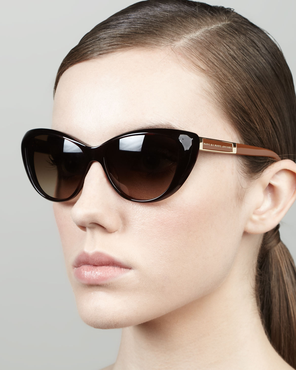 fc1395db2351 Marc By Marc Jacobs Cat-eye Sunglasses in Brown - Lyst