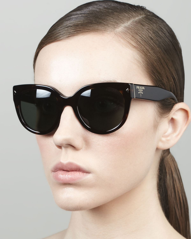 7e531dc54c8 cheap lyst prada heritage cateye sunglasses in black f9de5 6bff0