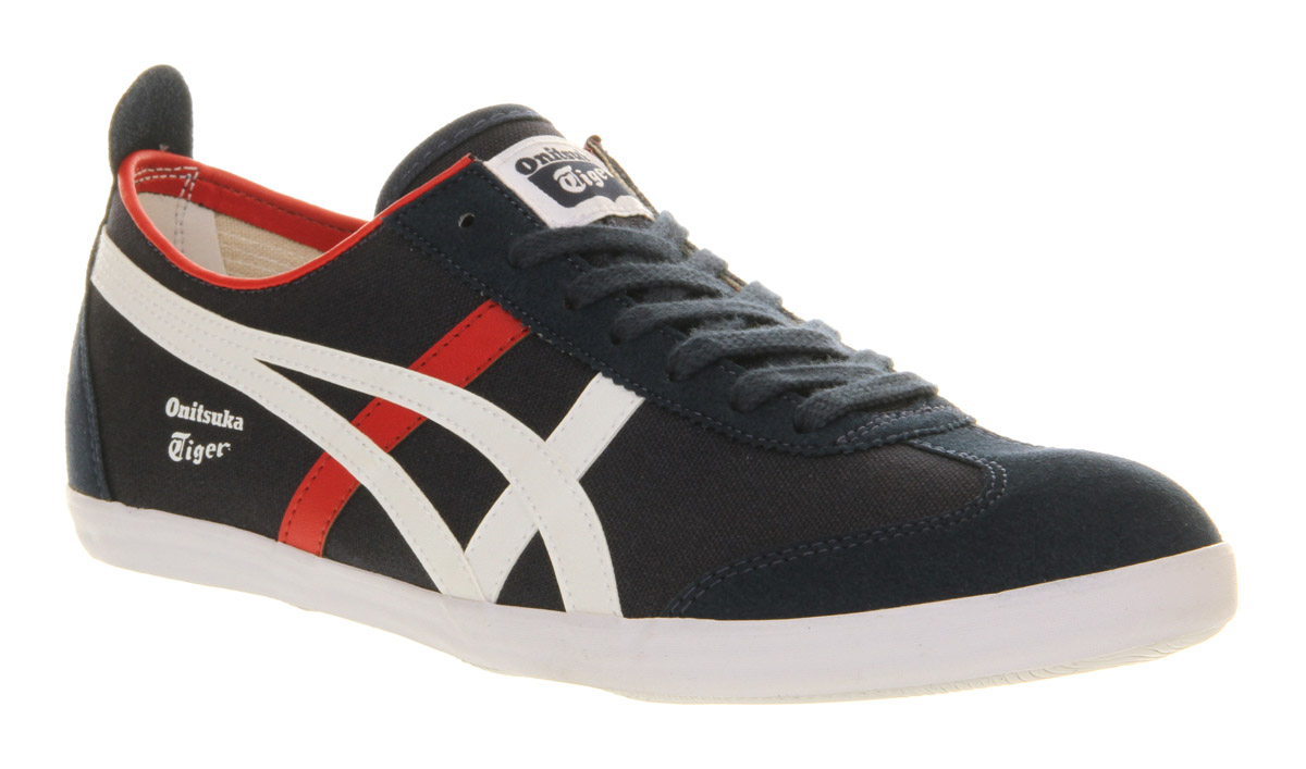 super popular 799c7 5c1df Onitsuka Tiger Mexico 66 Vulc Suede Navy White Red in Black for Men ...