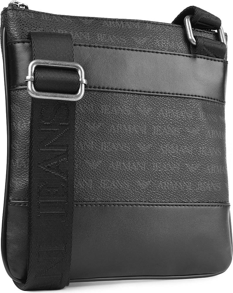 Armani Jeans Small Logo Messenger Bag in Black for Men - Lyst 01231180850e3